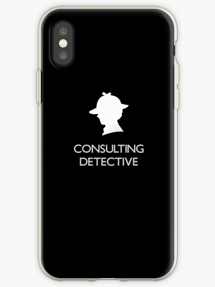 Sherlock Silhouette iPad/iPhone Case - Black by jlechuga