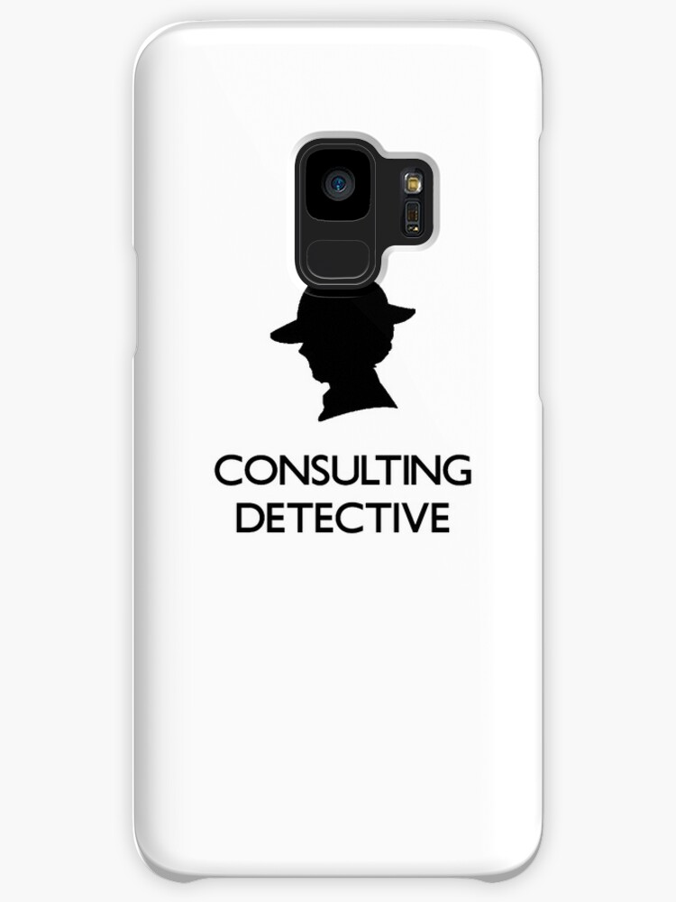 Sherlock Silhouette iPad/iPhone Case - White by jlechuga