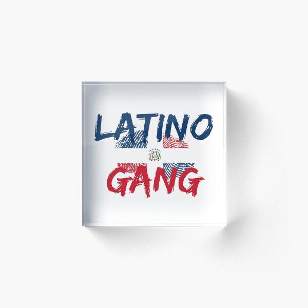 Latino Gang Dominican Republic Acrylic Block