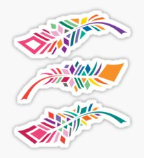 Stained Glass Feathers Sticker