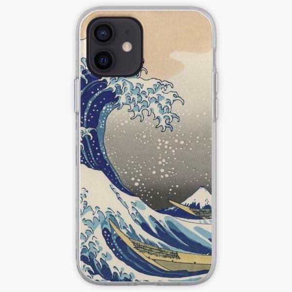 La gran ola de Hokusai en Kanagawa Funda blanda para iPhone