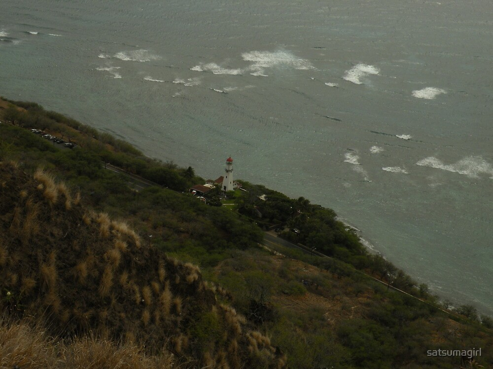 Lighthouse at Diamond Head by satsumagirl