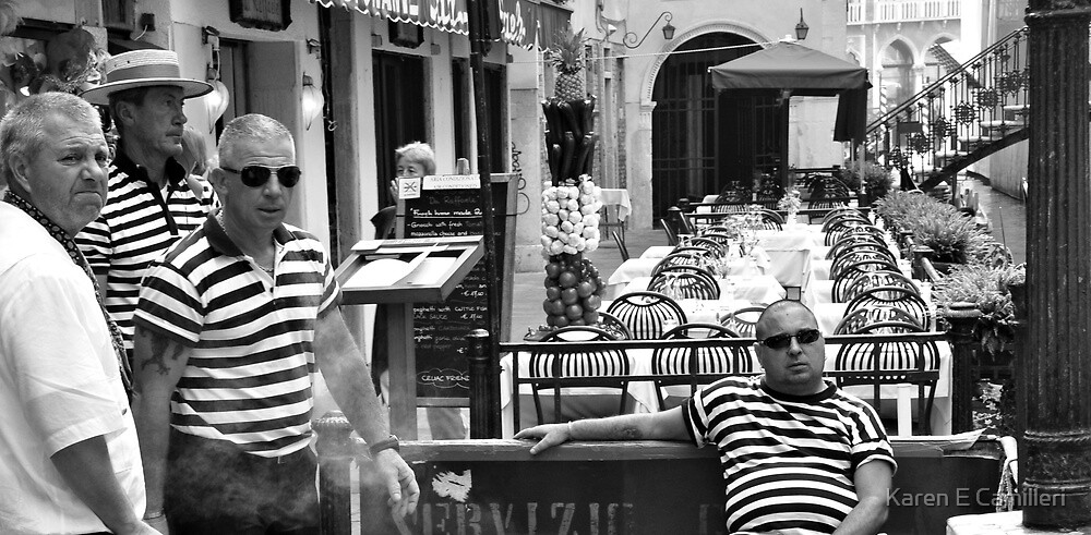 Men in stripes by Karen E Camilleri