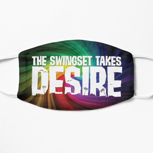 The Swingset Takes Desire Rainbow Flat Mask
