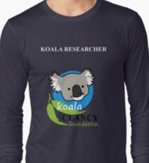 Koala Clancy Foundation - large logo researcher Long Sleeve T-Shirt