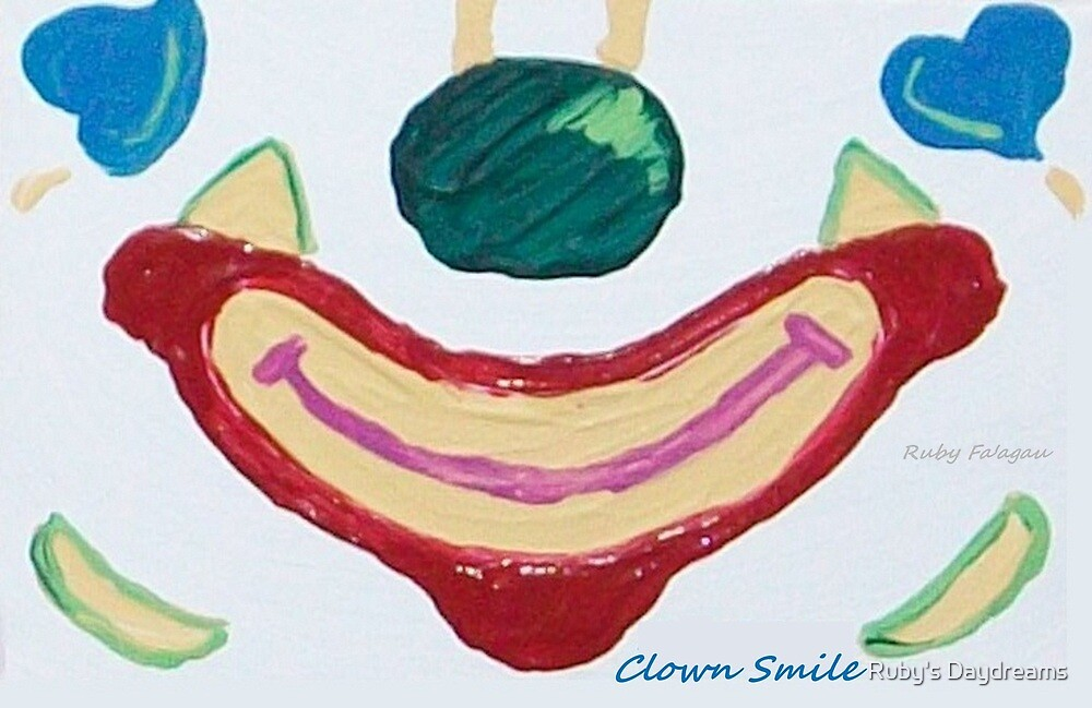 """""""Clown Smile"""" painting by Ruby's Daydreams"""