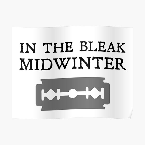 In the bleak midwinter (Blade version) Poster