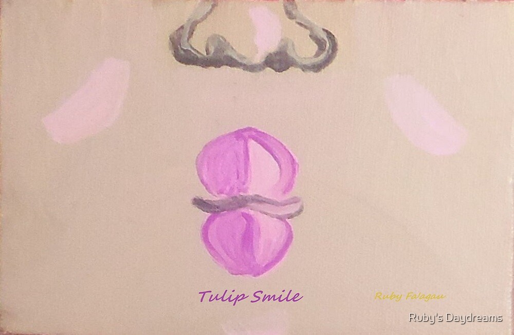 """""""Tulip Smile"""" painting by Ruby's Daydreams"""