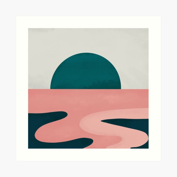Sunset Over Horizon Art Print