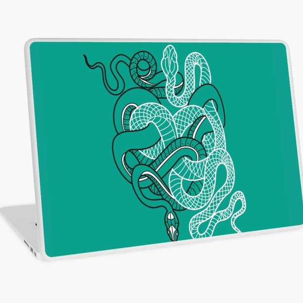Two intertwined snakes Laptop Skin