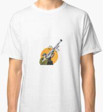 World War Two British Soldier Machine Gun Classic T-Shirt