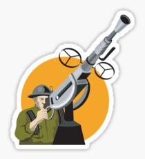 World War Two British Soldier Machine Gun Sticker
