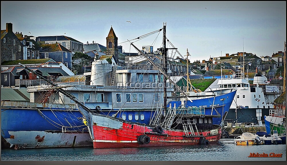 Penzance Harbour by Malcolm Chant