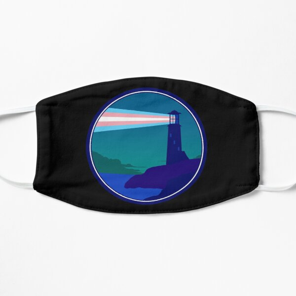 Be a Beacon - Trans Flag Beam Flat Mask