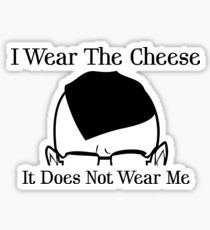 I Wear The Cheese Sticker