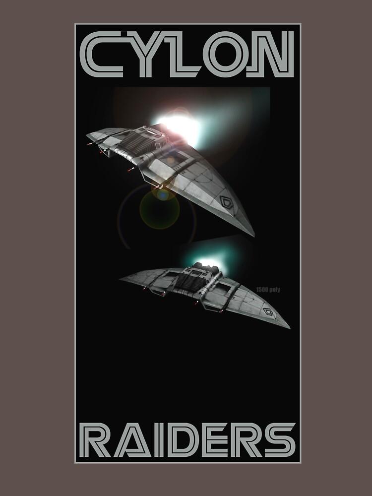 Cylon Raider Space Patrol by astralsid