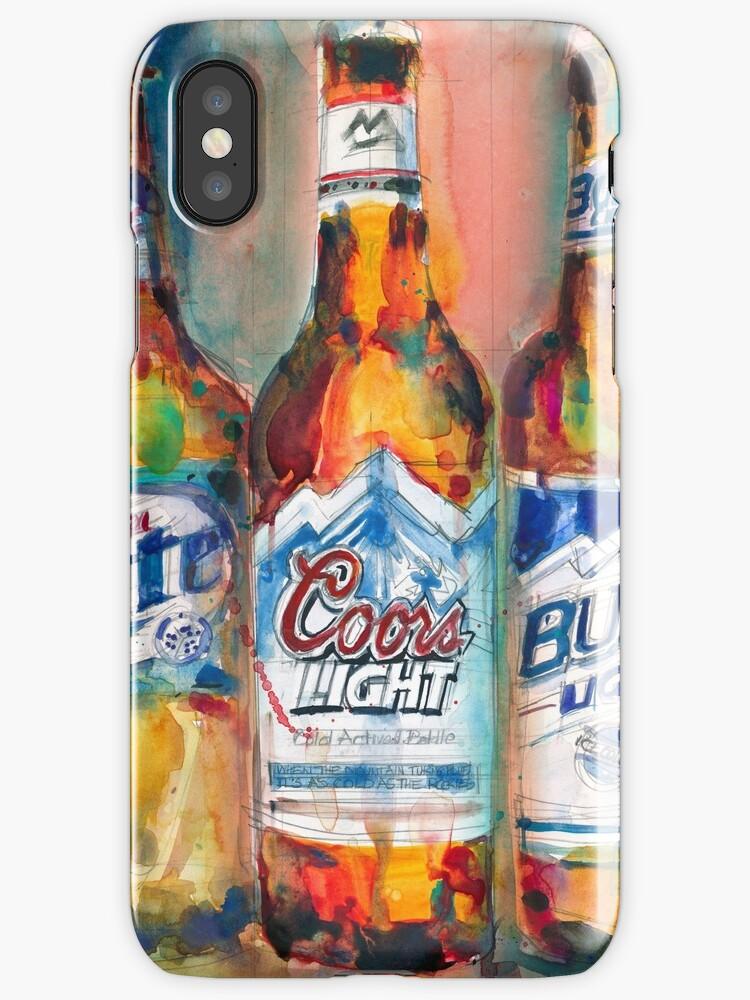 Wonderful Miller Lite, Coors Light, Busch Light   Beer Art Print   By Dorrie Rifkin Good Looking