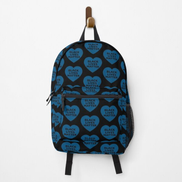 Black Lives Matter Blue Heart Backpack