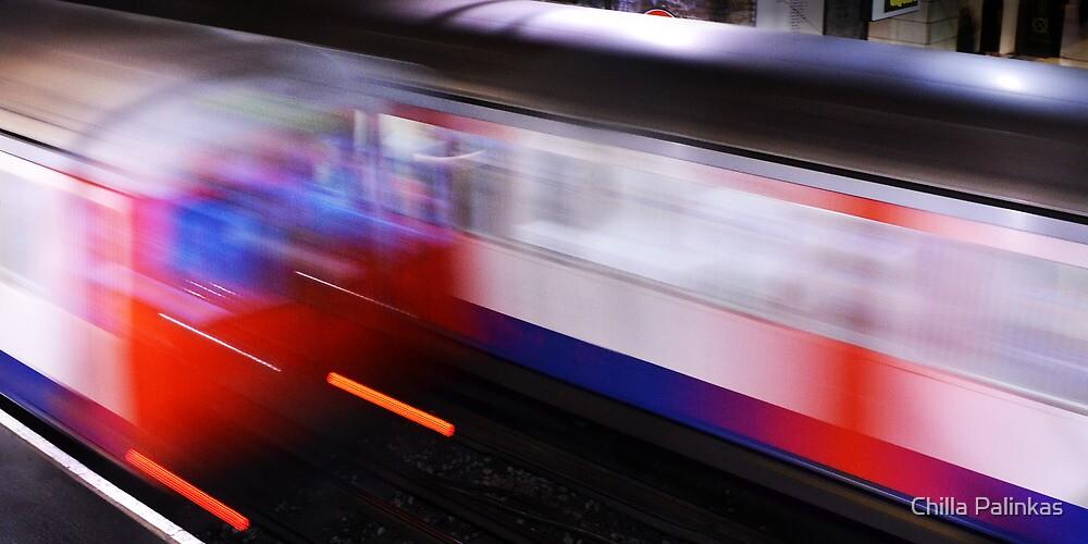 The London Underground at Baker Street by Chilla Palinkas