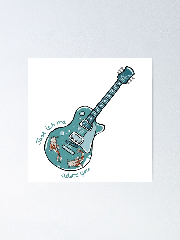 Alternate view of Harry Styles- Adore you guitar Poster