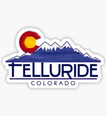 Telluride Colorado Holzberge Sticker
