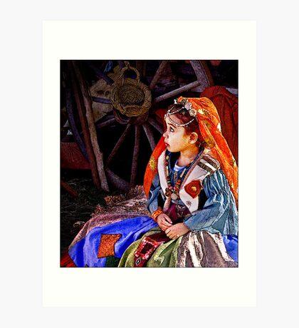 gypsy girl Art Print