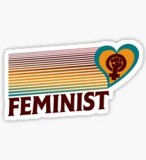 Retro Feminist  Sticker