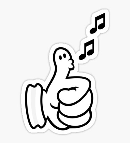 Thumbs up (Whistler) VRS2 Sticker