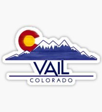 Vail Colorado wood mountains Sticker