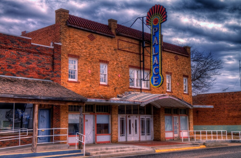 Quot The Palace Theater In Spur Texas Quot By Terence Russell Redbubble