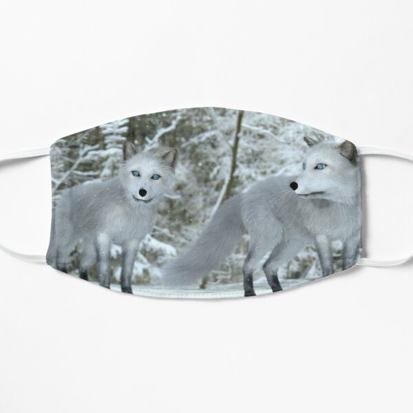 Snowy Foxes Mask
