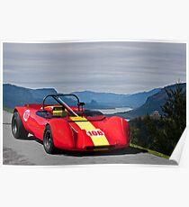 1965 Lotus 23 Vintage Race Car Poster