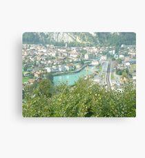 On top of Interlaken Canvas Print