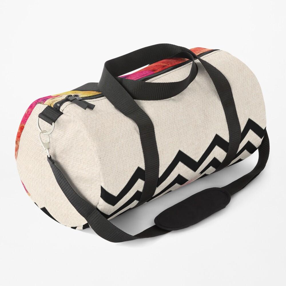 Chevron Flora II Duffle Bag