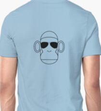 Aviator Monkey B&W Unisex T-Shirt