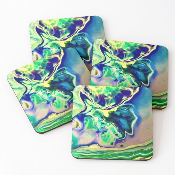 Space Galaxy Acrylic Pour Coasters (Set of 4)