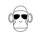 Aviator Monkey B&W by george williams