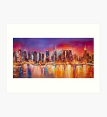 Vibrant New York City Skyline Art Print
