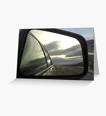 Objects In Mirror Greeting Card