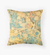 ebru art Throw Pillow