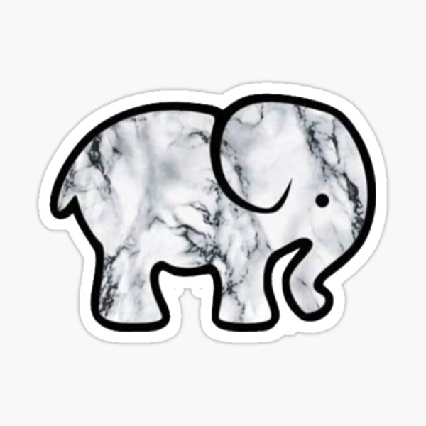 Autocollant éléphant en marbre Sticker