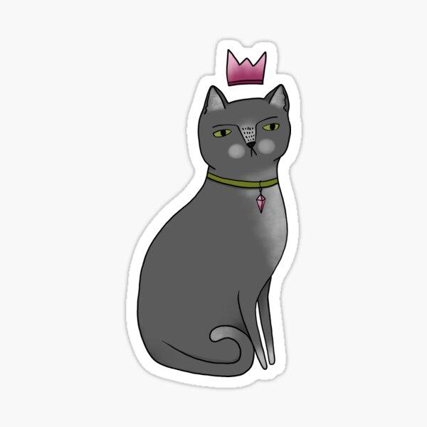 Princess Cat - Grey Sticker