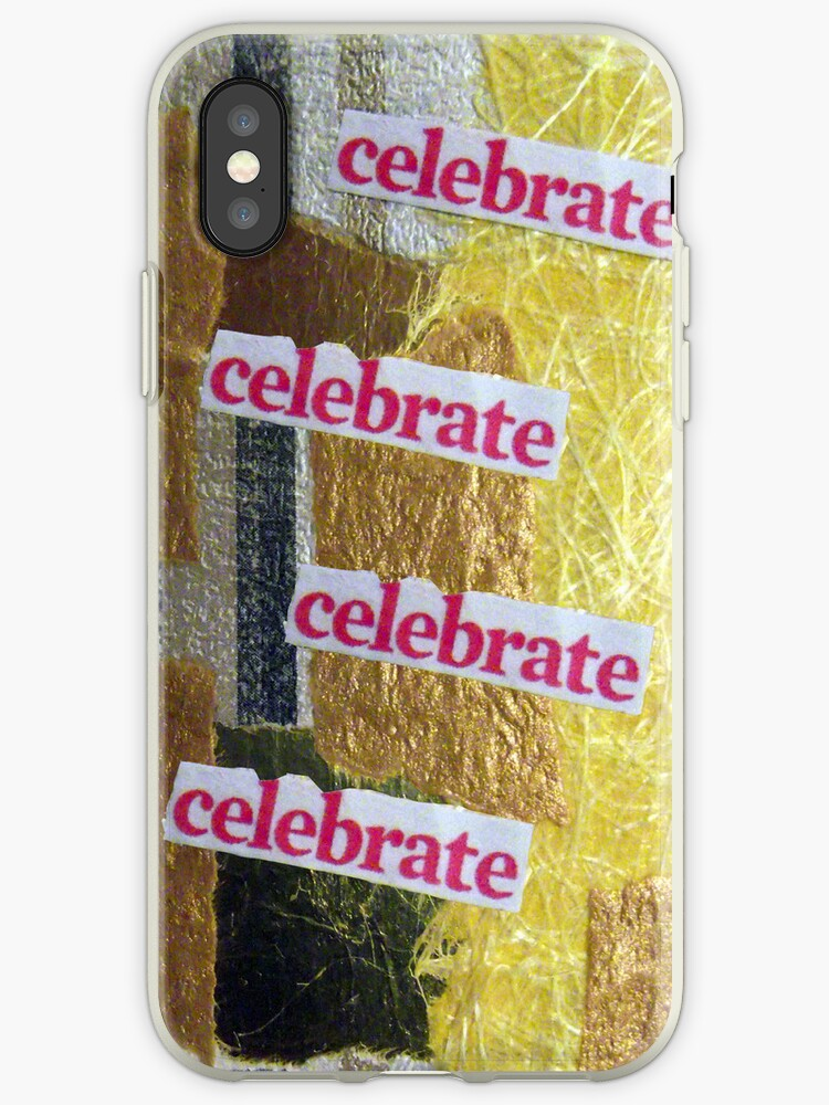 celebrate, yellow / gold collage by artyfax