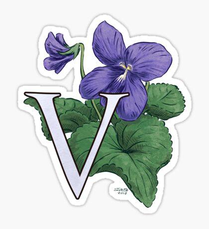 V is for Violet Sticker