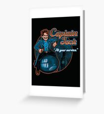 Captain Jack Greeting Card