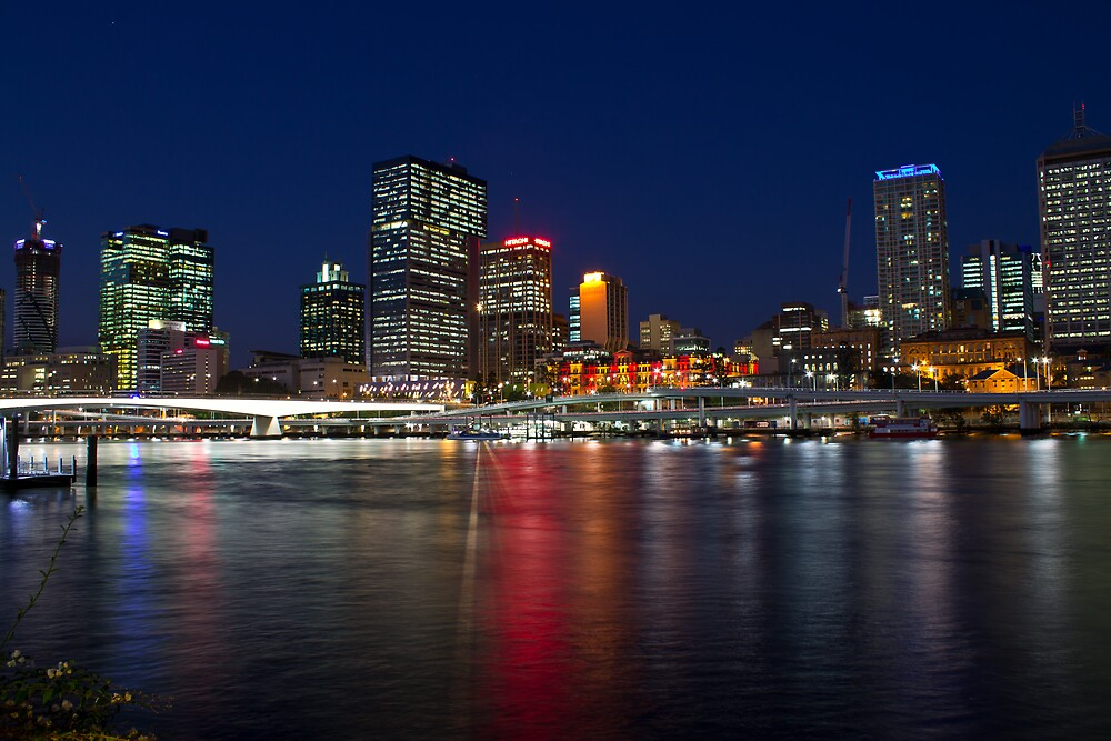 Brisbane at Dusk by DJCPhotography