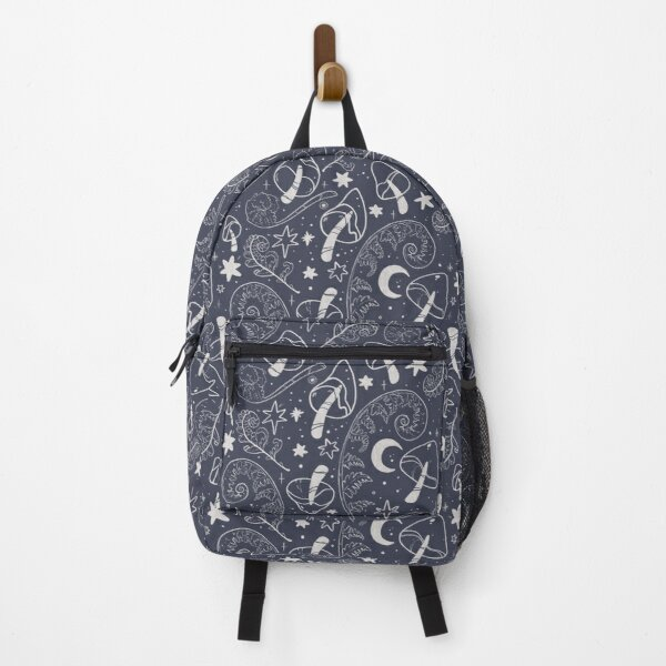 Mushroom and Fern Forest - Botanical Pattern Backpack