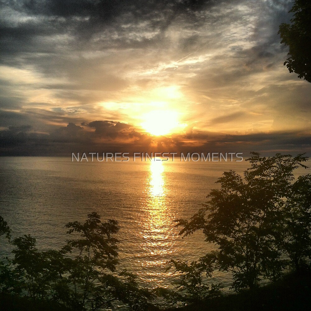 Sunset over lake by NATURES FINEST MOMENTS