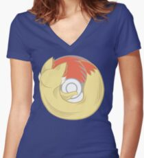 Fire Type Browser Women's Fitted V-Neck T-Shirt