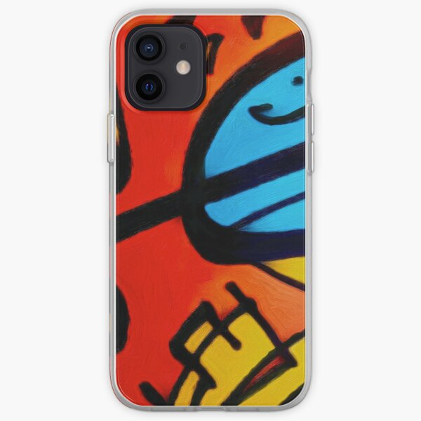 Orange and blue Adbstract iPhone Soft Case